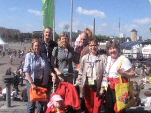 The group from Grace Lutheran Church West Springfield at Kirchentag 2009 in Bremen, Germany.